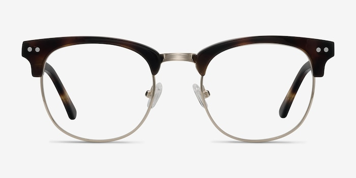 Borderline Tortoise Acetate Eyeglass Frames from EyeBuyDirect, Front View