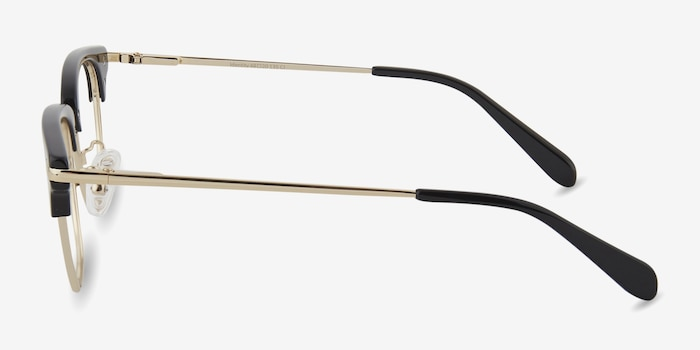 Identity Black Acetate Eyeglass Frames from EyeBuyDirect, Side View