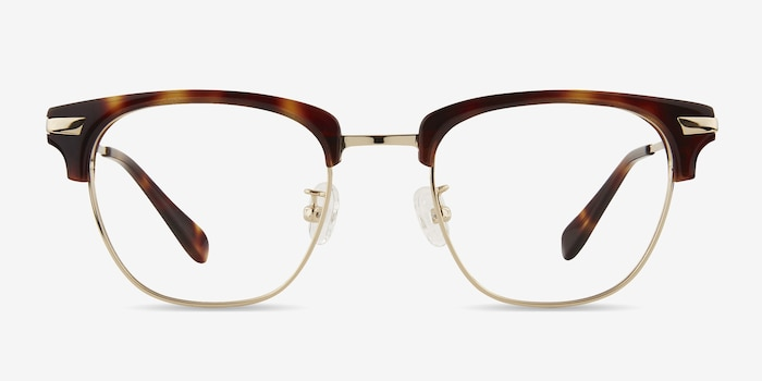 Identity Tortoise Acetate Eyeglass Frames from EyeBuyDirect, Front View