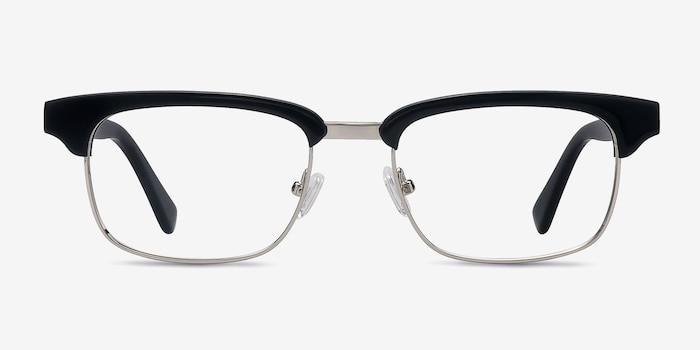 Levy Black Acetate Eyeglass Frames from EyeBuyDirect, Front View