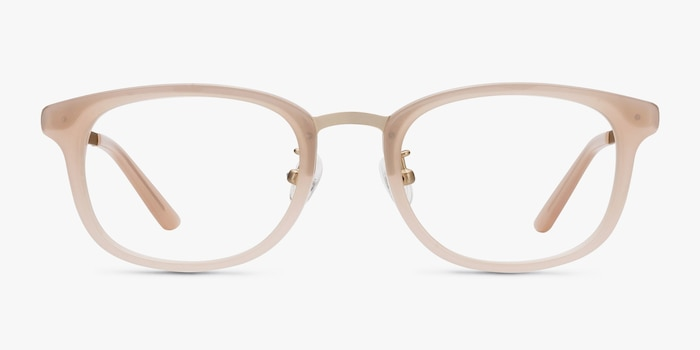 First Light Pink Acetate Eyeglass Frames from EyeBuyDirect, Front View