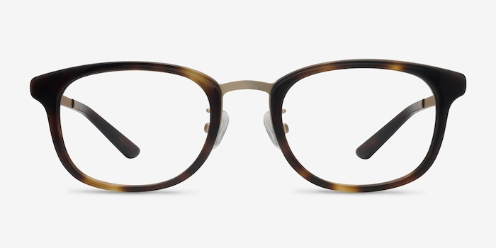 First Light Tortoise Acetate Eyeglass Frames from EyeBuyDirect, Front View