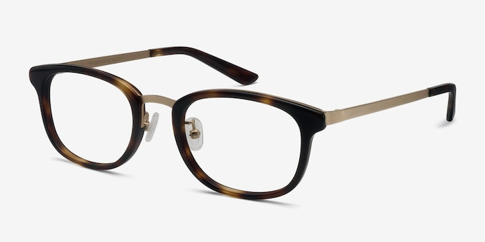 First Light Tortoise Acetate Eyeglass Frames from EyeBuyDirect, Angle View