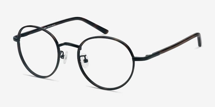 Anywhere Dark Tortoise Acetate Eyeglass Frames from EyeBuyDirect, Angle View