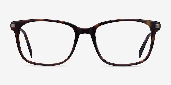 Motion Tortoise Acetate Eyeglass Frames from EyeBuyDirect, Front View
