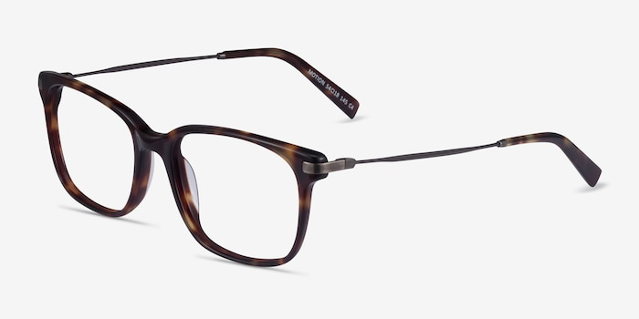Motion Tortoise Acetate Eyeglass Frames from EyeBuyDirect, Angle View