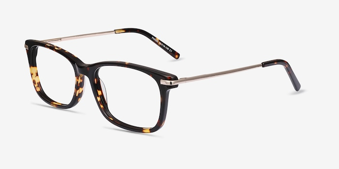 Phase Tortoise Acetate Eyeglass Frames from EyeBuyDirect, Angle View
