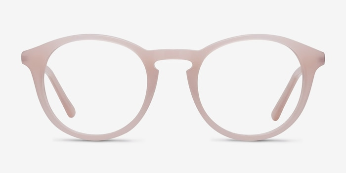White Moon Pink Acetate Eyeglass Frames from EyeBuyDirect, Front View