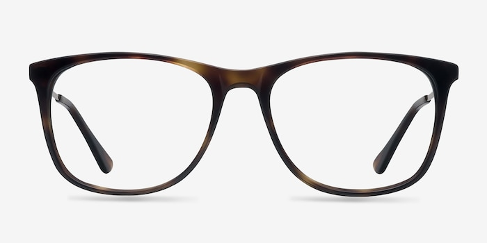 Contrast Tortoise Metal Eyeglass Frames from EyeBuyDirect, Front View