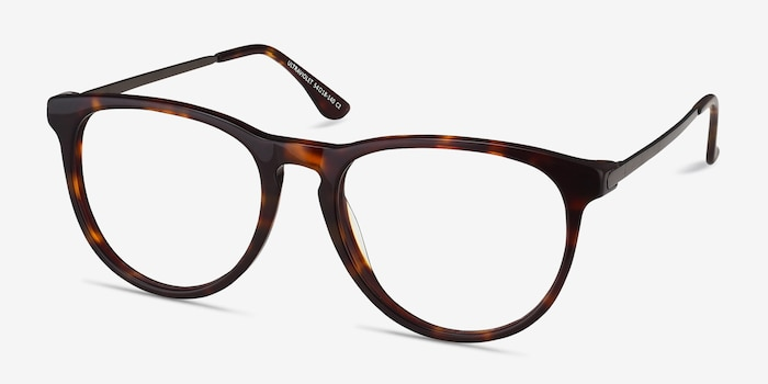 Ultraviolet Tortoise Acetate Eyeglass Frames from EyeBuyDirect, Angle View