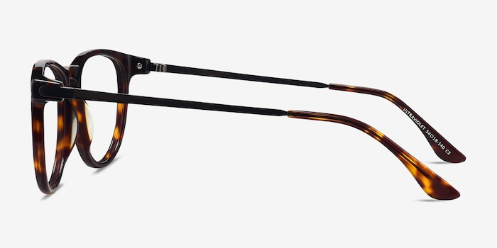 Ultraviolet Tortoise Acetate Eyeglass Frames from EyeBuyDirect, Side View