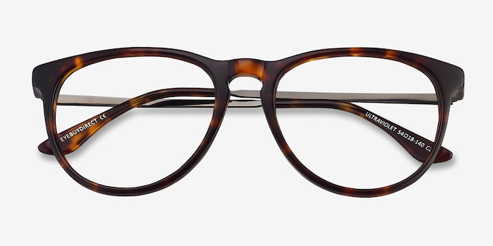 Ultraviolet Tortoise Acetate Eyeglass Frames from EyeBuyDirect, Closed View