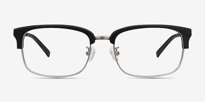 Wizard Black Acetate Eyeglass Frames from EyeBuyDirect, Front View
