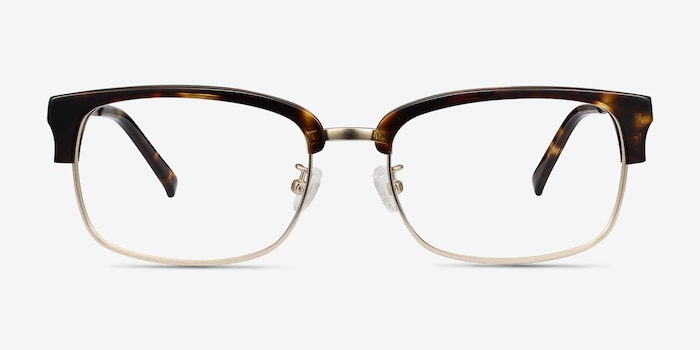Wizard Tortoise Acetate Eyeglass Frames from EyeBuyDirect, Front View