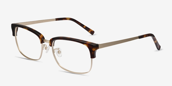 Wizard Tortoise Acetate-metal Eyeglass Frames from EyeBuyDirect, Angle View