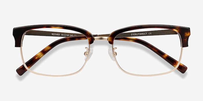 Wizard Tortoise Acetate Eyeglass Frames from EyeBuyDirect, Closed View