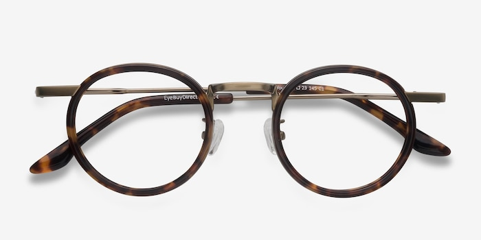 Maybe You Tortoise Acetate Eyeglass Frames from EyeBuyDirect, Closed View