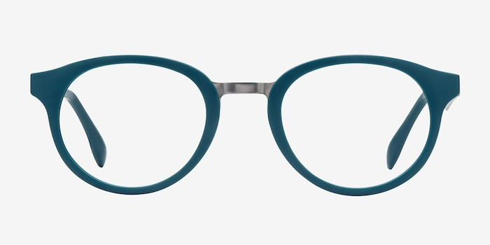 Aisu Matte Green Metal Eyeglass Frames from EyeBuyDirect, Front View