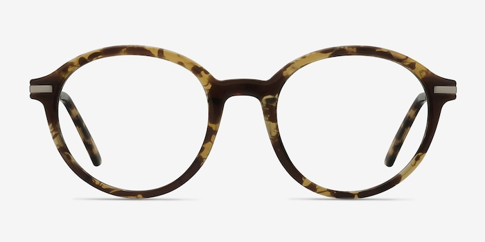 Juno Tortoise Metal Eyeglass Frames from EyeBuyDirect, Front View