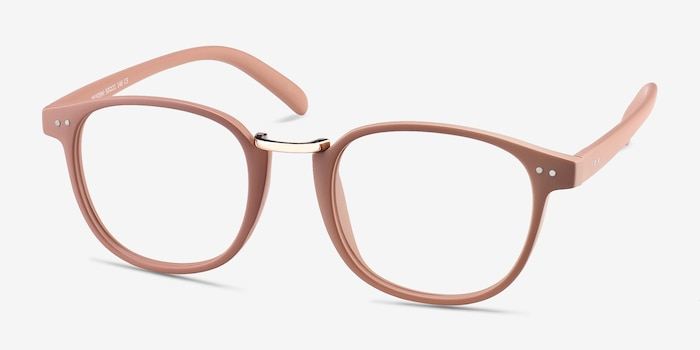 Miyoshi Sand Metal Eyeglass Frames from EyeBuyDirect, Angle View