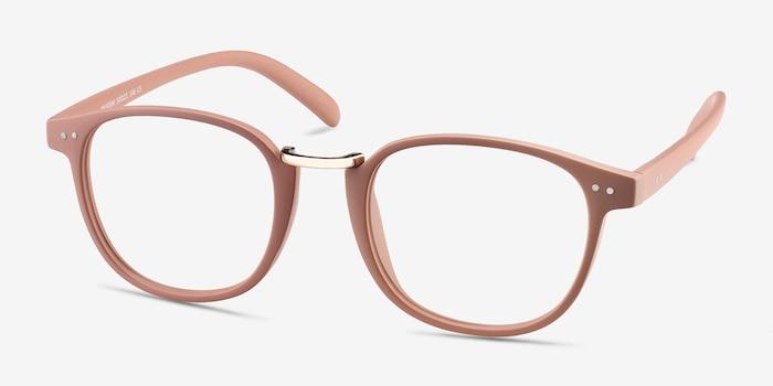 Miyoshi Sand Plastic-metal Eyeglass Frames from EyeBuyDirect, Angle View