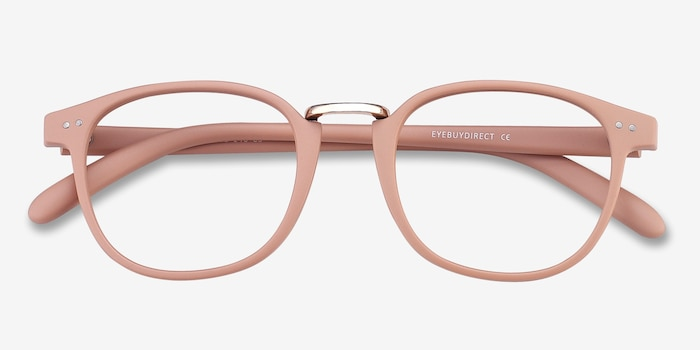 Miyoshi Sand Metal Eyeglass Frames from EyeBuyDirect, Closed View