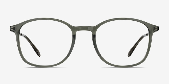 Civilization  Gray  Metal Eyeglass Frames from EyeBuyDirect, Front View