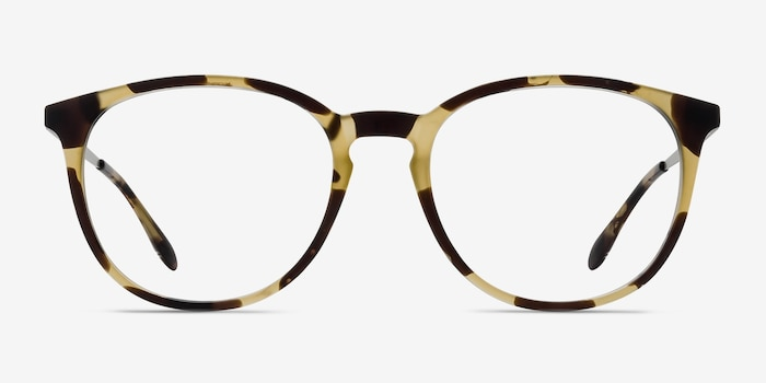 Gracious Light Tortoise Metal Eyeglass Frames from EyeBuyDirect, Front View