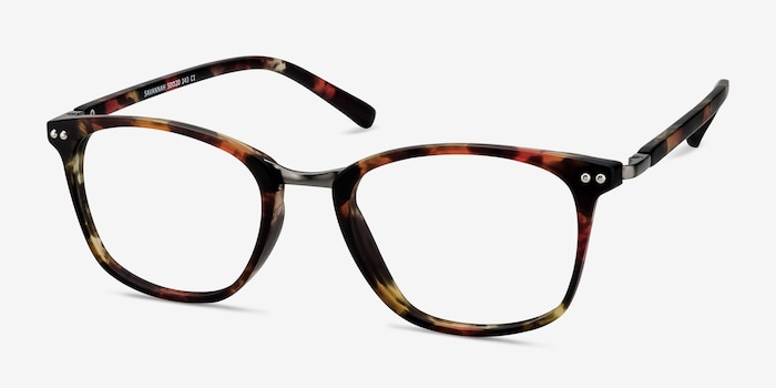 Savannah Floral Metal Eyeglass Frames from EyeBuyDirect, Angle View