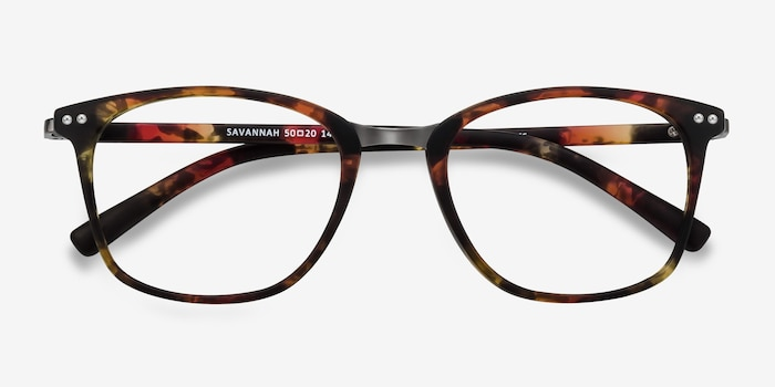 Savannah Floral Metal Eyeglass Frames from EyeBuyDirect, Closed View