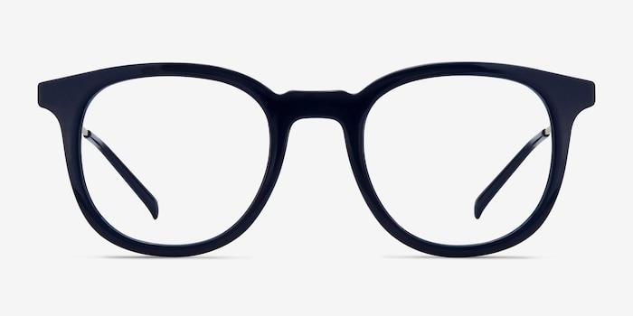 Chance Bleu marine  Métal Montures de Lunette de vue d'EyeBuyDirect, Vue de Face