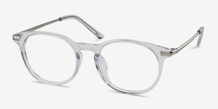 Mood Translucent Metal Eyeglass Frames from EyeBuyDirect, Angle View
