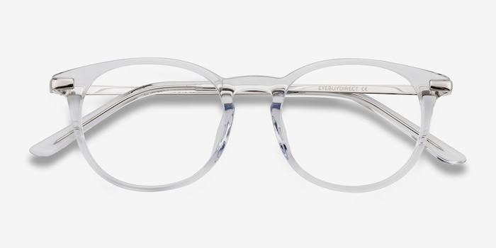 Mood Translucent Metal Eyeglass Frames from EyeBuyDirect, Closed View
