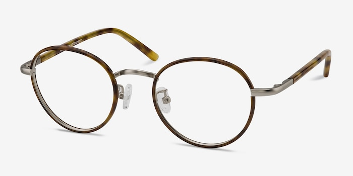 Anywhere Tortoise Acetate Eyeglass Frames from EyeBuyDirect, Angle View