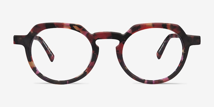 Phantasm Speckled rose Acetate Eyeglass Frames from EyeBuyDirect, Front View