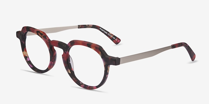 Phantasm Speckled rose Acetate Eyeglass Frames from EyeBuyDirect, Angle View