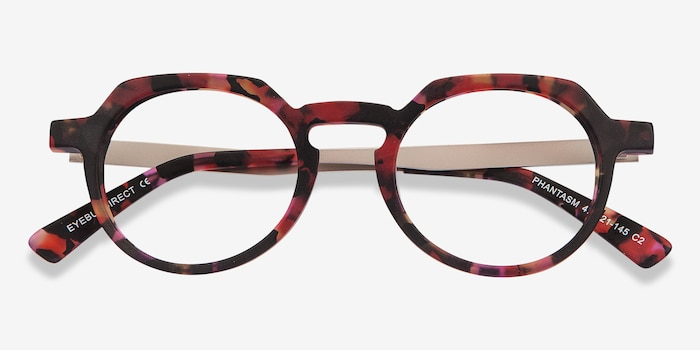 Phantasm Speckled rose Acetate Eyeglass Frames from EyeBuyDirect, Closed View