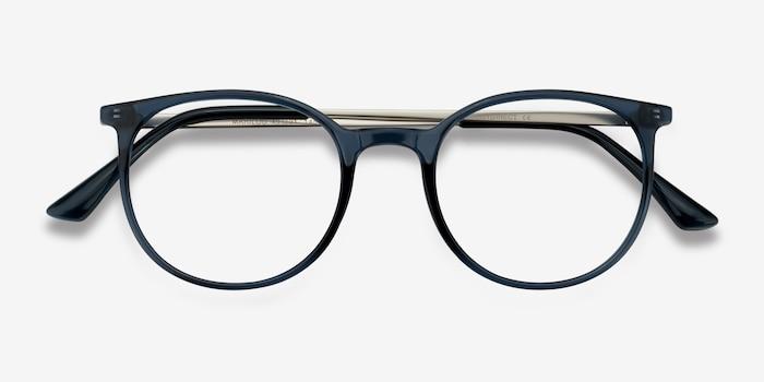 Marilou Clear Cobalt Métal Montures de Lunettes d'EyeBuyDirect, Vue Rapprochée