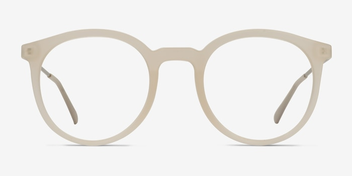 Grin Matte Clear Metal Eyeglass Frames from EyeBuyDirect, Front View