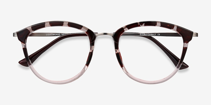 Lightworks Pink Floral Metal Eyeglass Frames from EyeBuyDirect, Closed View