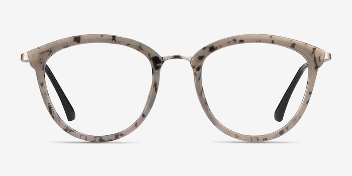 Lightworks Speckled Gray Métal Montures de Lunettes d'EyeBuyDirect, Vue de Face