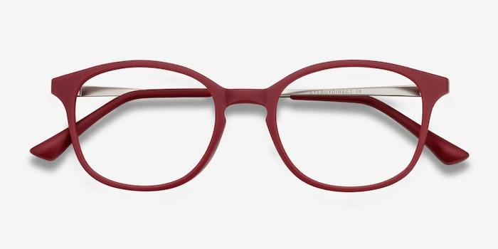 Villa Raspberry Plastic-metal Eyeglass Frames from EyeBuyDirect, Closed View