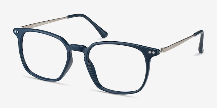 Ghostwriter Teal Plastic-metal Eyeglass Frames from EyeBuyDirect, Angle View