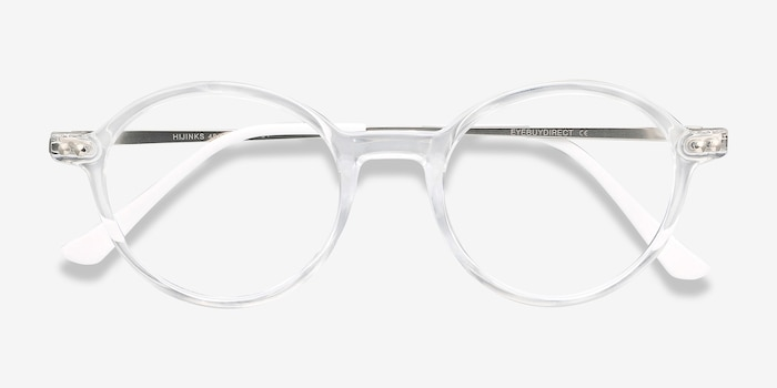 Hijinks Clear Metal Eyeglass Frames from EyeBuyDirect, Closed View