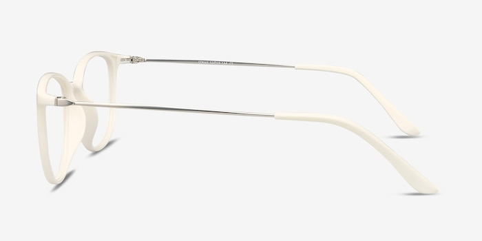 Strike white Metal Eyeglass Frames from EyeBuyDirect, Side View