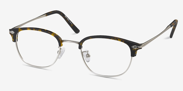 Links Tortoise Metal Eyeglass Frames from EyeBuyDirect, Angle View
