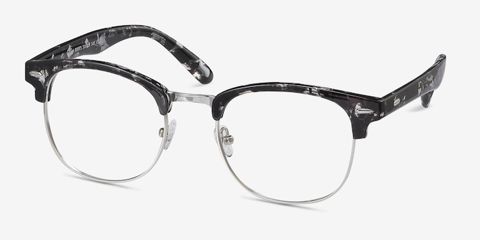 Roots Floral Metal Eyeglass Frames from EyeBuyDirect, Angle View