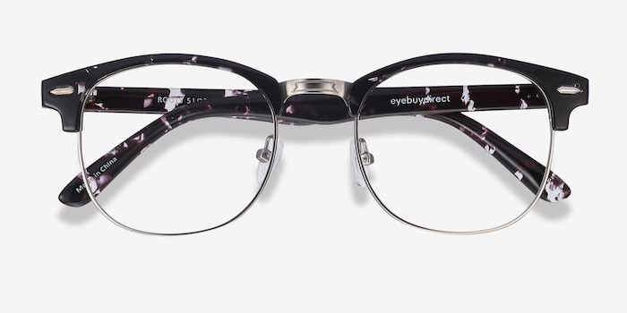 Roots Floral Metal Eyeglass Frames from EyeBuyDirect, Closed View