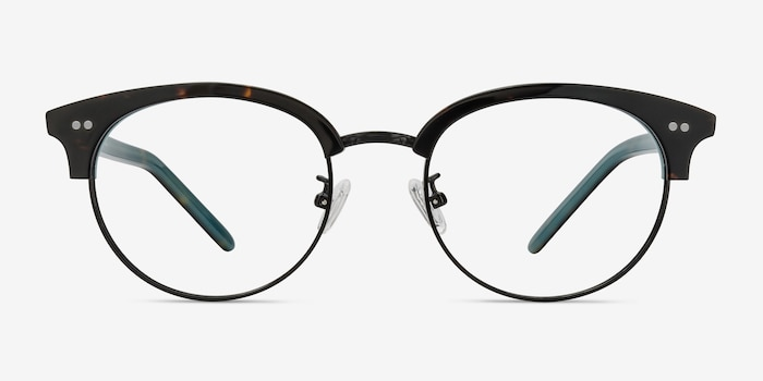 Annabel Tortoise Acetate Eyeglass Frames from EyeBuyDirect, Front View