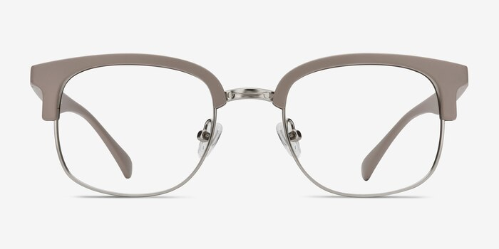 Yokote Gray Plastic Eyeglass Frames from EyeBuyDirect, Front View